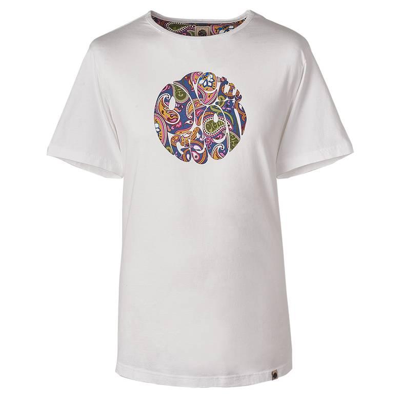 Mens Paisley Print Logo T-Shirt
