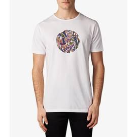 White Vintage  Paisley Print Logo T-Shirt
