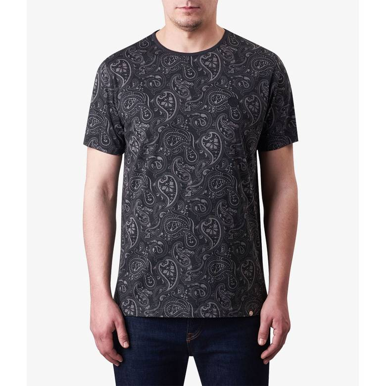 Paisley Print T Shirt Pretty Green Online Shop