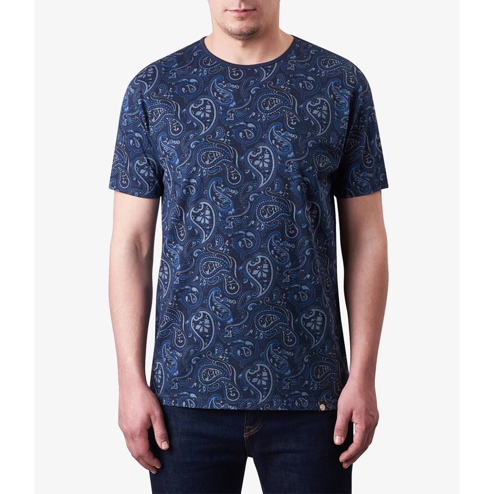 Paisley print t shirt pretty green online shop for Online printed t shirts