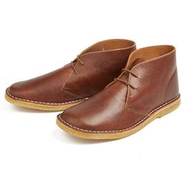 Tan  Leather Desert Boot