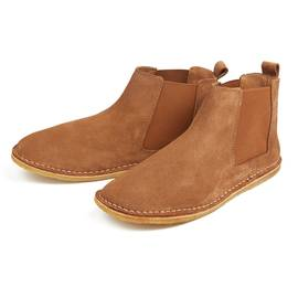 Dark Tan  Suede Chelsea Boot