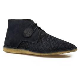 Navy Gresham Weave Boots