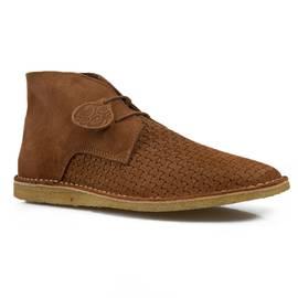 Tan Gresham Weave Boots