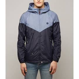 Blue Contrast Colour Hooded Jacket
