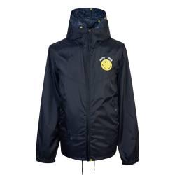 Black  Short Smiley Hooded Jacket