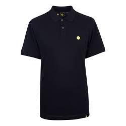 Black  Smiley Badge Polo Shirt