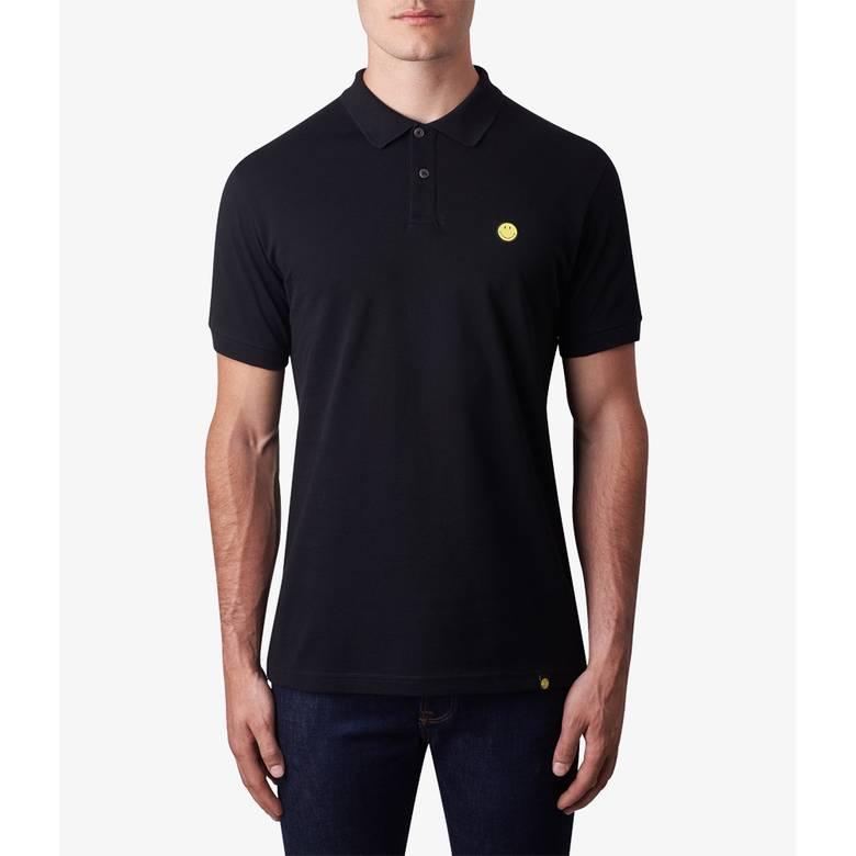 Mens Smiley Badge Polo Shirt