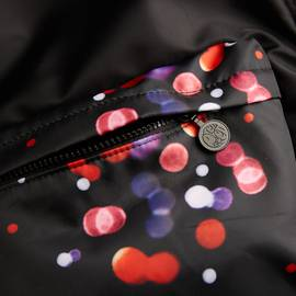 Black Spot Print Backpack