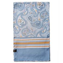 Blue  Paisley Print Scarf