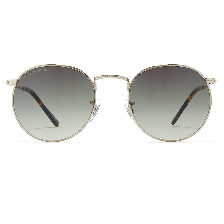 6df5fb7f7d8 Mens Round Frame Metal Sunglasses