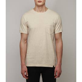 Stone  Marl Lace Detail T-Shirt
