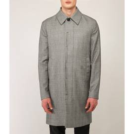 Grey Prince Of Wales Button Up Mac