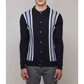Blue  Striped Knitted Shirt