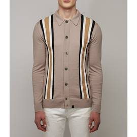 Stone  Striped Knitted Shirt
