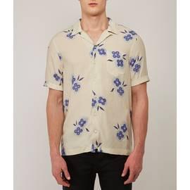 Stone  Short Sleeve Floral Print Shirt