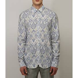 Grey  Slim Fit Paisley Print Shirt