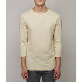 Stone  3/4 Sleeve Lace Detail T-Shirt