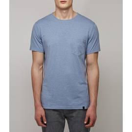 Blue  Marl Lace Detail T-Shirt
