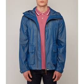 Blue  Zip Up Hooded Jacket