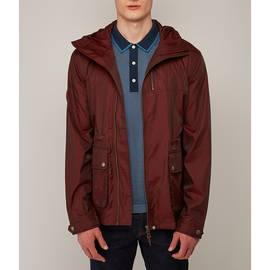 Burgundy  Zip Up Hooded Jacket