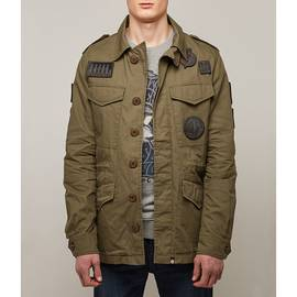Khaki  Four Pocket Badge Jacket