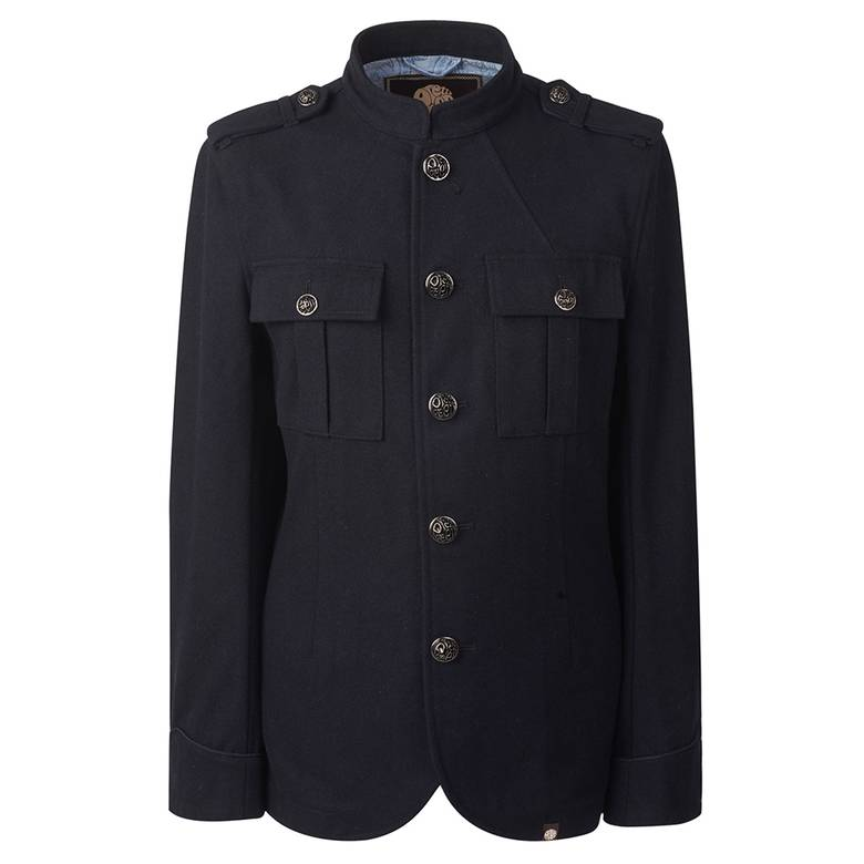 Mens Wool Button Up Jacket