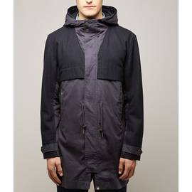 Navy  Contrast Panel Parka
