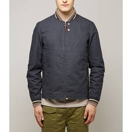 Navy  Wax Finish Bomber Jacket