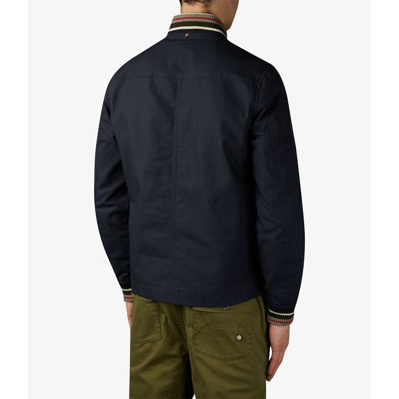 Mens Wax Finish Bomber Jacket