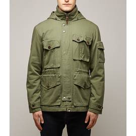 Khaki  Hooded M65 Jacket