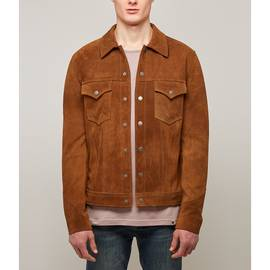 Brown  Button Up Suede Jacket