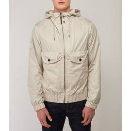 Stone  Zip Through Hooded Jacket