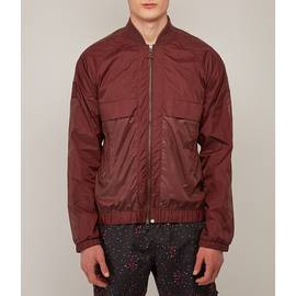 Burgundy  Reflective Bomber Jacket