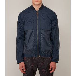 Navy  Reflective Bomber Jacket