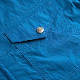 Blue  Lightweight Zip Through Jacket