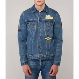 Blue  Beatles Denim Badge Jacket