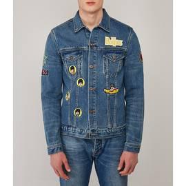 Blue  Beatles Embroidered Denim Jacket