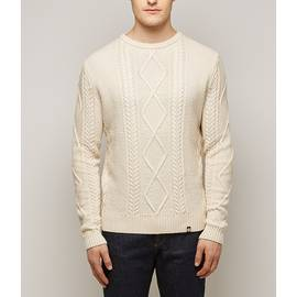 Stone  Fisherman Cable Knit Jumper