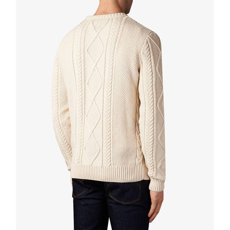 Mens Fisherman Cable Knit Jumper