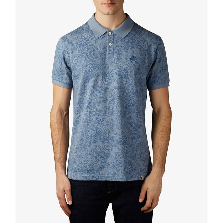 Mens Jacquard Paisley Polo Shirt