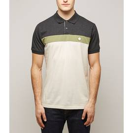 Grey  Colour Block Polo Shirt