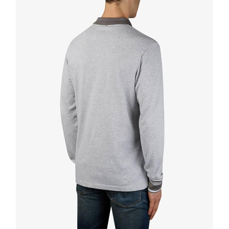 Mens Long Sleeve Pique Tipped Polo Shirt