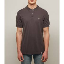 Grey  Pique Racking Collar Polo Shirt
