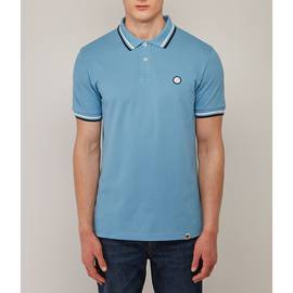 Blue  Tipped Pique Polo Shirt