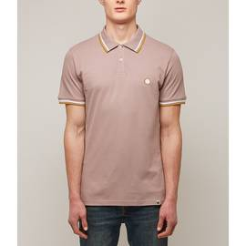 Dusty Pink  Tipped Pique Polo Shirt
