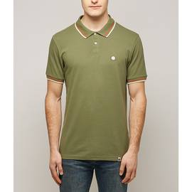 Green  Tipped Pique Polo Shirt