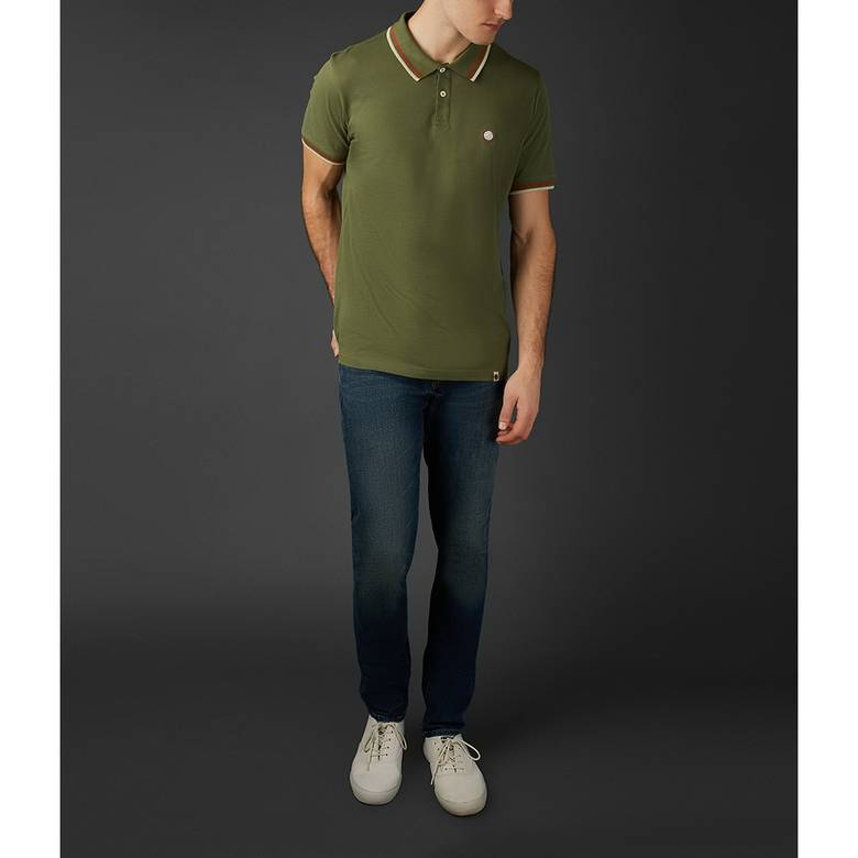 Mens Tipped Pique Polo Shirt