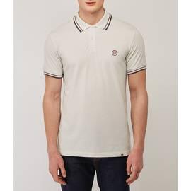 Grey  Tipped Pique Polo Shirt