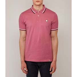 Pink  Tipped Pique Polo Shirt
